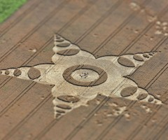 aerial shot of crop circle, germany