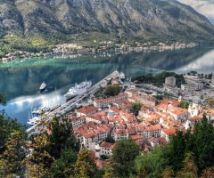 beautiful view on kotor bay, montenegro