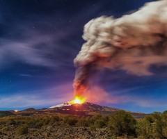 mount etna eruption, sicily