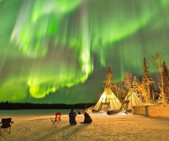 night in yellowknife, canada