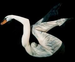 swan body art