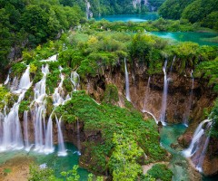 waterfalls of plitvice lakes, croatia