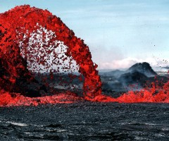 lava fountain, hawaii