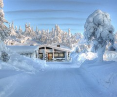 magical winter in finland