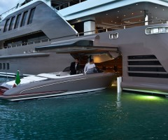 garage door on a luxury yacht