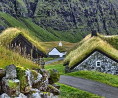 green roof houses of faroe islands