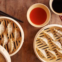 homemade dim sum food