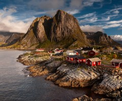 village behind polar circle