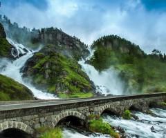 latefossen waterfall, norway