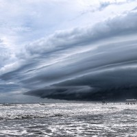 storm over beach, florida