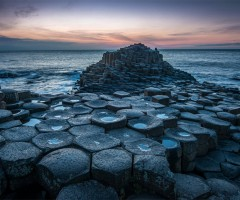 interlocking basalt columns, northern ireland coast
