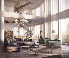 living room from $57 million penthouse