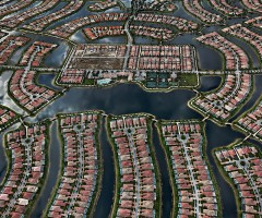 aerial view of verona walk, naples, florida