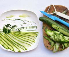 making art with food