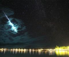 iridium flare over bora bora
