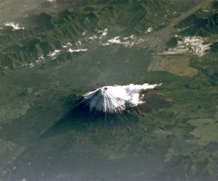 mount fuji seen from space