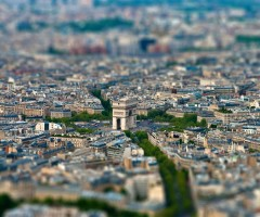tilt-Shift arc de triomphe, paris