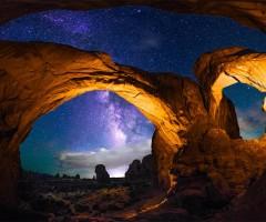 under the night sky, utah