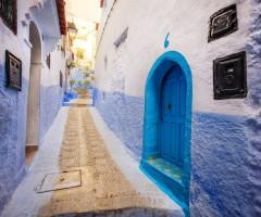 blue alley, morocco