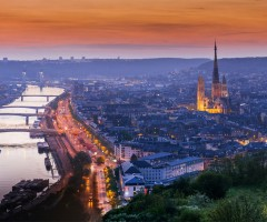 city of rouen, normandy, france