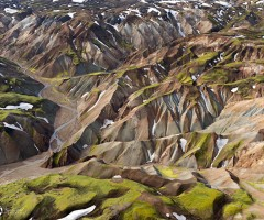 breathtaking aerial landscape of iceland