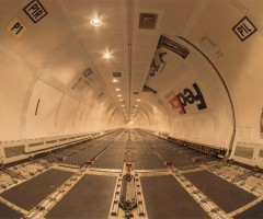 inside FedEx Boeing 757 cargo airplane