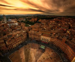 medieval city of siena, italy