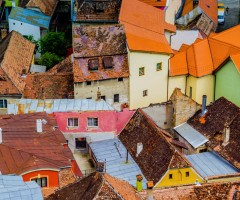 rooftops of sighisoara, romania