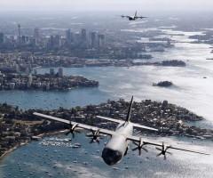 royal australian transport aircrafts over sydney