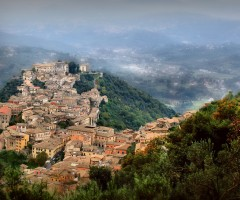 small town in the hills, arpino, italy