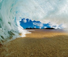 under the wave