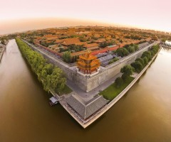 view on forbidden city from above, beijing