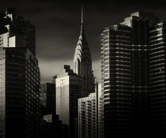 black and white new york