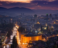 city of sarajevo, bosnia and herzegovina