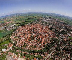 nördlingen, a town built in a 14 million year old meteor crater