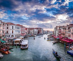 a view from rialto bridge, venice