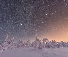 amazing winter night sky