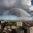 rainbow and rain over belgium