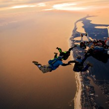 skydiving over los angeles