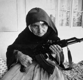 106 year old lady with a rifle