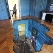 3D art inside the room