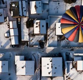 balloon over switzerland