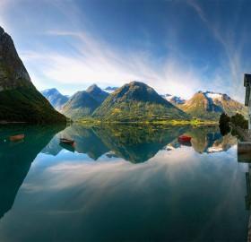 beautiful lake in norway
