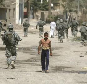 boy versus army