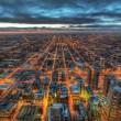 chicago grid at night
