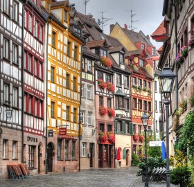 colorful streets of nuremberg