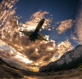 flight through a fisheye
