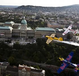 flying over budapest
