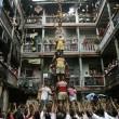 human pyramid, india