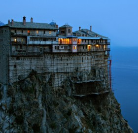 monastery on athos, greece